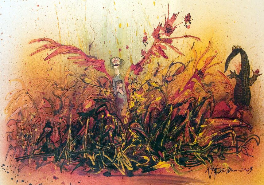 Ralph Steadman Farenheit 451 Angel