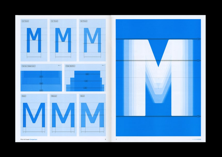 Colophon Foundry Blue M Typeface